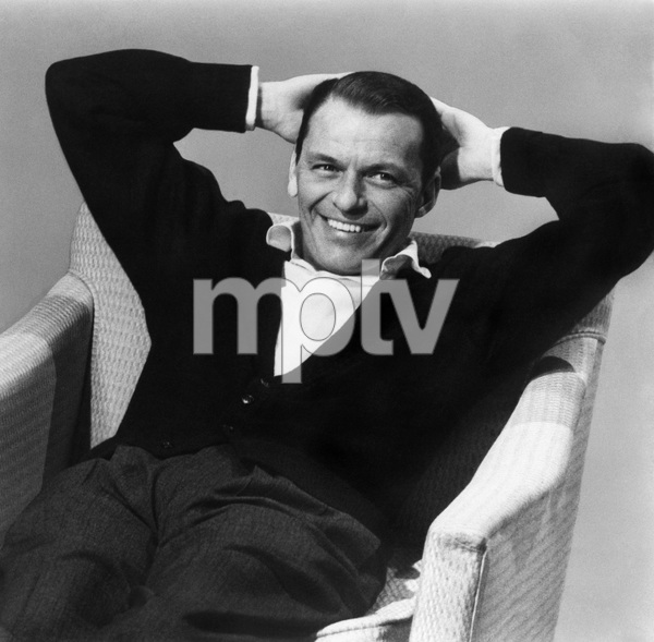"""Frank Sinatra during a Capitol Records album cover shoot for """"Nice"""