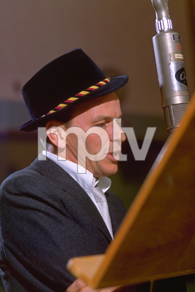 """Frank Sinatra during a 1959 recording session """"Look To Your Heart"""" for Capitol Records. © 1978 Sid Avery - Image 0337_1475"""