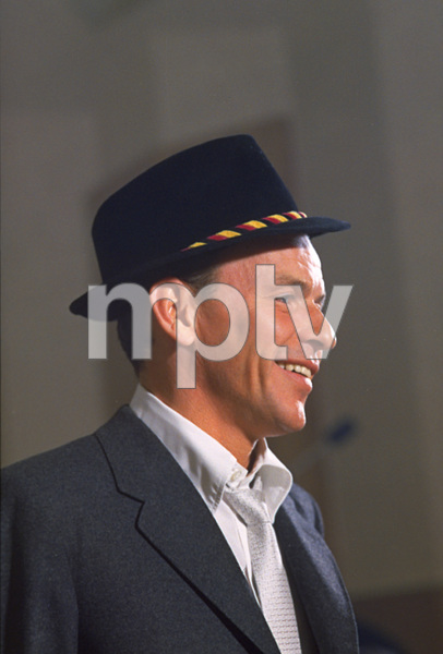"""Frank Sinatra during a 1959 recording session """"Look To Your Heart"""" for Capitol Records. © 1978 Sid Avery - Image 0337_1477"""