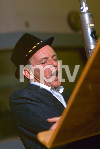 """Frank Sinatra during a 1959 recording session """"Look To Your Heart"""" for Capitol Records. © 1978 Sid Avery - Image 0337_1480"""
