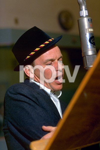 "Frank Sinatra during a 1959 recording session ""Look To Your Heart"" for Capitol Records. © 1978 Sid Avery - Image 0337_1481"