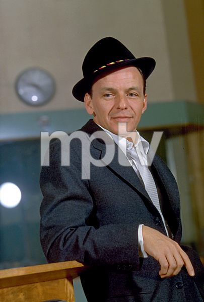 "Frank Sinatra during a 1959 recording session ""Look To Your Heart"" for Capitol Records. © 1978 Sid Avery - Image 0337_1482"