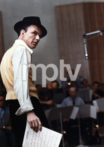 Frank Sinatra at a Capitol Records recording session in Los Angeles1957© 1978 Sid Avery - Image 0337_1494