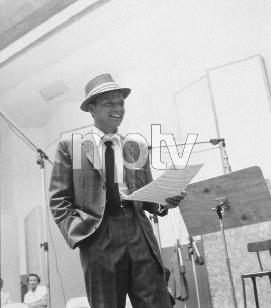 Frank Sinatra At a recording session for Capitol Records, c. 1954. © 1978 Sid Avery - Image 0337_1520