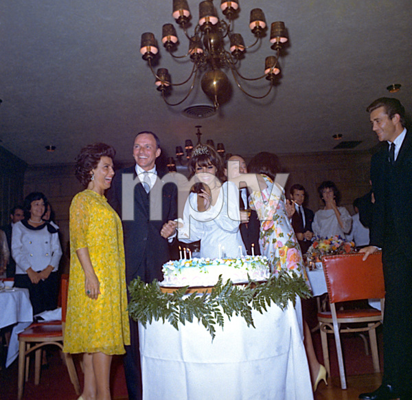 Frank Sinatra & Family at Nancy Jr.