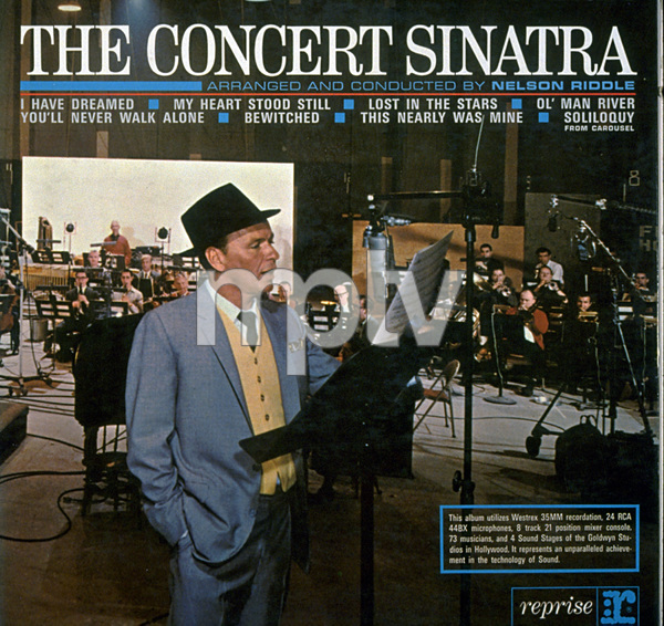 """""""The Concert Sinatra""""1963 ReprisePhoto byTed Allan - Image 0337_1572"""