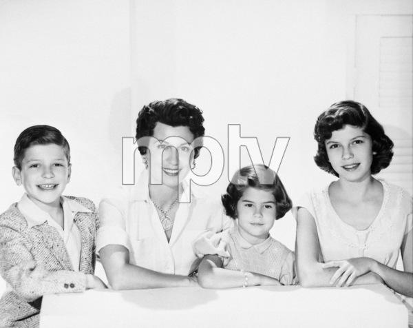 Frank Sinatra Jr., Nancy Sinatra Sr., Tina Sinatra and Nancy Sinatra Jr.circa 1950s© 1978 John Engstead - Image 0337_1612