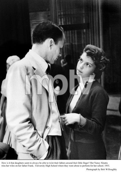 Frank Sinatra & Nancy Sinatra backstage at her high school. 1955 © 1978 Bob Willoughby - Image 0337_1702