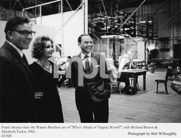 "Frank Sinatra visits the Warner Brothers set of ""Who"