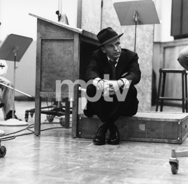 Frank Sinatra at a Capitol Records recording session in Los Angeles1957© 1978 Sid Avery - Image 0337_1742