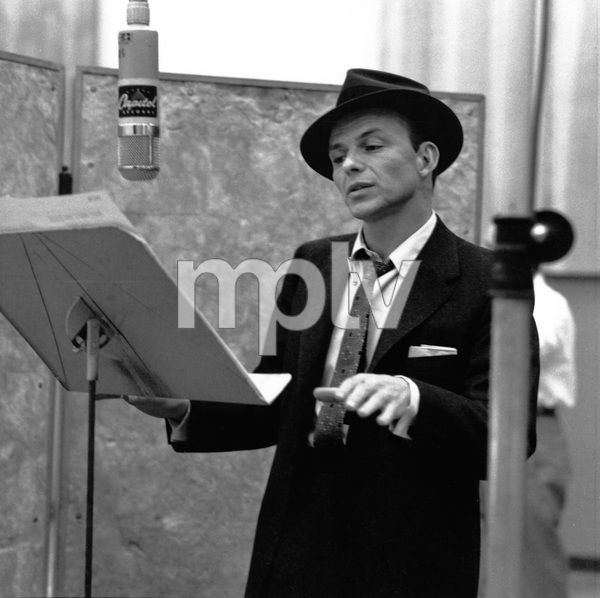 Frank Sinatra at a Capitol Records recording sessioncirca 1957 © 1978 Sid Avery - Image 0337_1745
