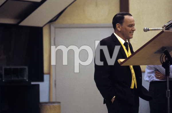 Frank Sinatra at a Reprise recording session1965 © 1978 Ed Thrasher - Image 0337_1836