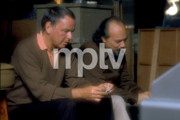 """Frank Sinatra with Don Costa at the Reprise recording session of """"Ol"""