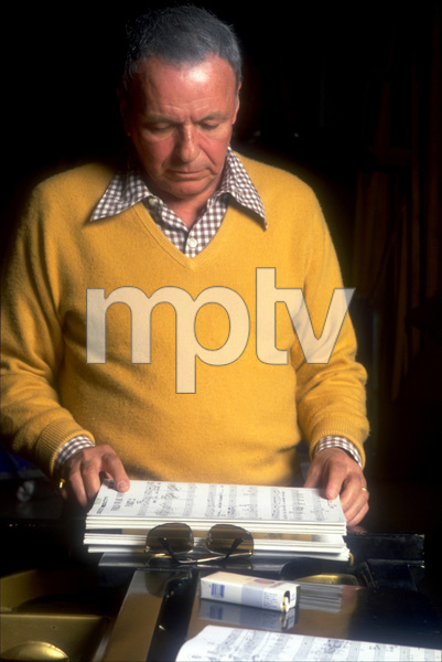 """Frank Sinatra at the Reprise recording session of """"Trilogy"""" / 1979 © 1979 Ed Thrasher - Image 0337_1960"""