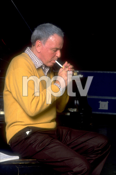 """Frank Sinatra at the Reprise recording session of """"Trilogy"""" / 1979 © 1979 Ed Thrasher - Image 0337_1962"""
