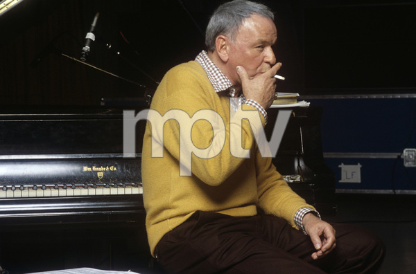 """Frank Sinatra at the Reprise recording session of """"Trilogy""""1979© 1979 Ed Thrasher - Image 0337_1963"""