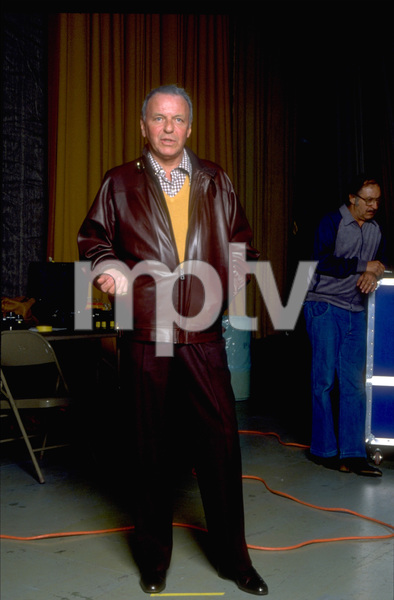 "Frank Sinatra at the Reprise recording session of ""Trilogy"" / 1979 © 1979 Ed Thrasher - Image 0337_1966"