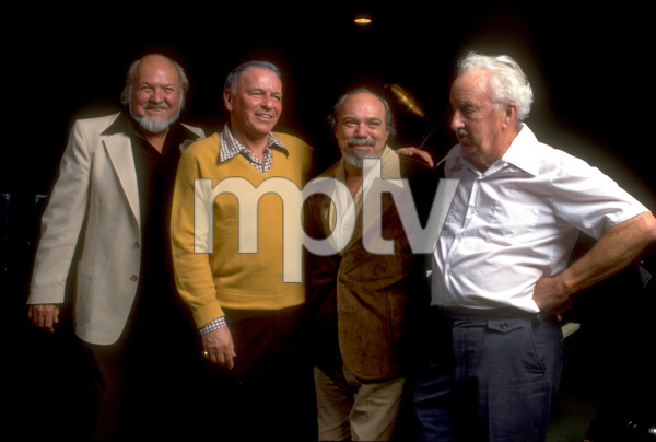"""Frank Sinatra with Billy May, Don Costa and Gordon Jenkins at the 1979 Reprise recording session of """"Trilogy"""" © 1979 Ed Thrasher - Image 0337_1967"""