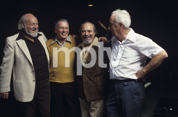 """Frank Sinatra with Billy May, Don Costa and Gordon Jenkins at the 1979 Reprise Recording Session of """"Triliogy"""" © 1979 Ed Thrasher - Image 0337_1968"""