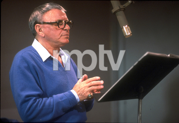 """Frank Sinatra at the Reprise recording session of """"L.A. Is My Lady"""" / A&R Studios, New York / 1984 © 1984 Ed Thrasher - Image 0337_1982"""
