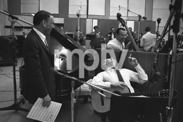 Frank Sinatra and Antonio Carlos Jobim at a Reprise recording session1967 © 1978 Ed Thrasher - Image 0337_2009