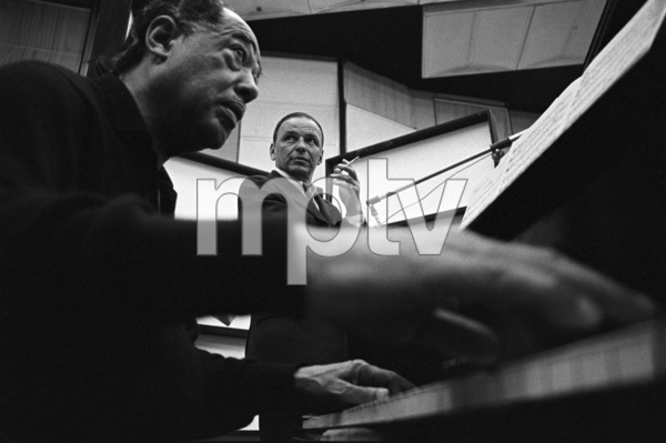 Frank Sinatra with Duke Ellington at a Reprise recording session1967 © 1978 Ed Thrasher - Image 0337_2015