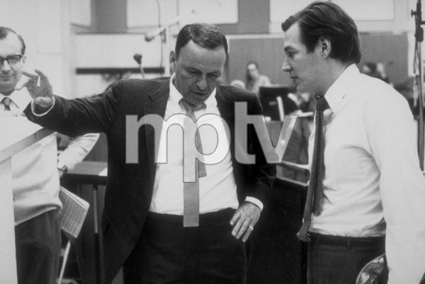 Frank Sinatra with Antonio Carlos Jobimat a Reprise recording session / 1967 © 1978 Ed Thrasher - Image 0337_2033