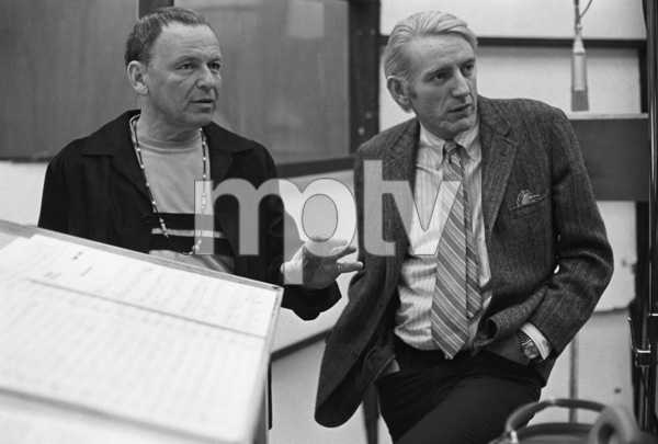Frank Sinatra with Rod McKuen at a Reprise recording session1969© 1978 Ed Thrasher - Image 0337_2036