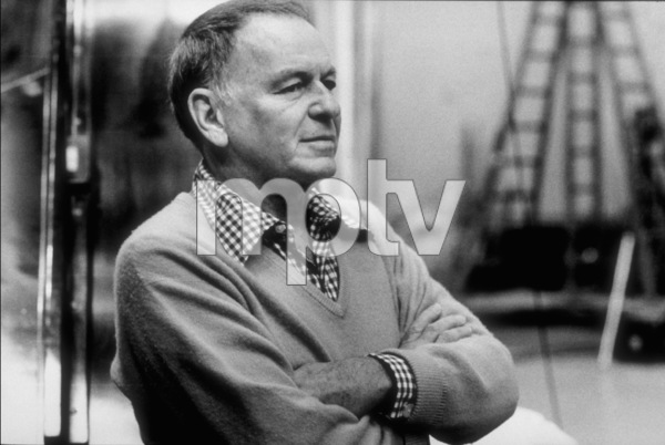"""Frank Sinatra at the Reprise recording session of """"Trilogy"""" / 1979 © 1979 Ed Thrasher - Image 0337_2044"""