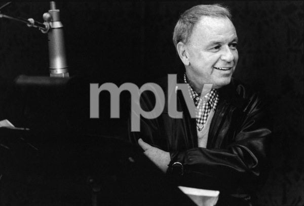 "Frank Sinatra at the Reprise recording session of ""Trilogy""1979 © 1979 Ed Thrasher - Image 0337_2046"