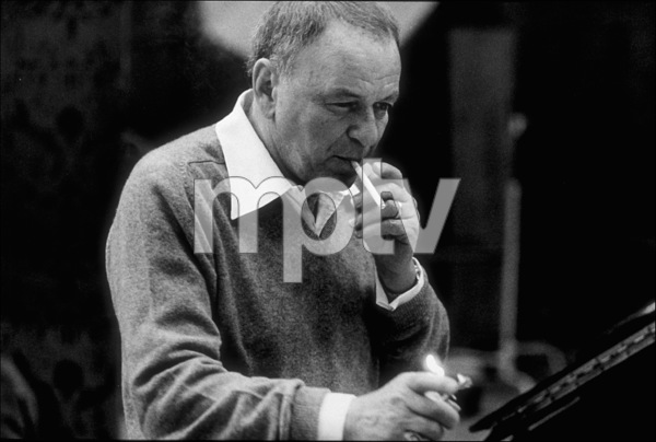 "Frank Sinatra at the Reprise recording session of ""Trilogy"" / 1979 © 1979 Ed Thrasher - Image 0337_2047"