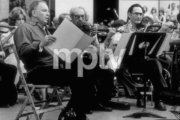 """Frank Sinatra at the Reprise recording session of """"Trilogy"""" / 1979 © 1979 Ed Thrasher - Image 0337_2048"""
