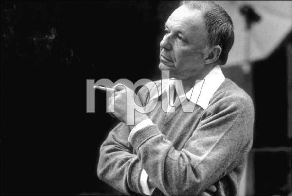 """Frank Sinatra at the Reprise recording session of """"Trilogy"""" / 1979 © 1979 Ed Thrasher - Image 0337_2050"""