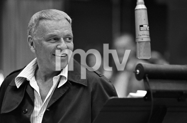 Frank Sinatra at a Reprise recording session1981 © 1981 Ed Thrasher - Image 0337_2055