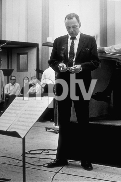 Frank Sinatra at a recording session / October, 1965 © 1978 Ed Thrasher - Image 0337_2089