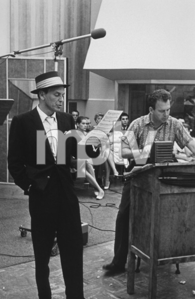 Frank Sinatra with arranger Nelson Riddle at a Capitol Records recording session, c. 1954 © 1978 Sid Avery - Image 0337_2141