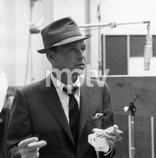 5a9b2337933 Frank Sinatra at a Capitol Records recording session for