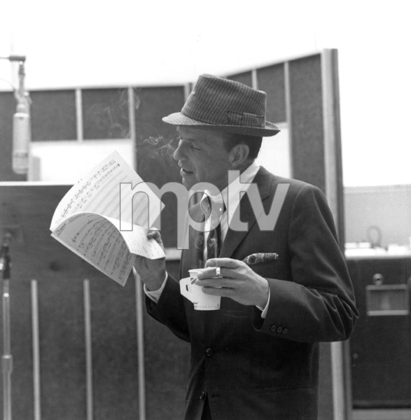 d5e3d0a5 Frank Sinatra at a Capitol Records recording session, c. 1959 for