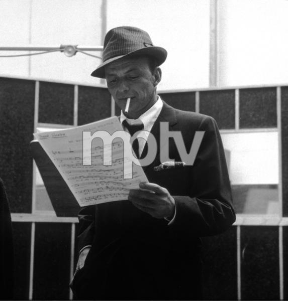 cee5b9943f6 Frank Sinatra at a Capitol Records recording session