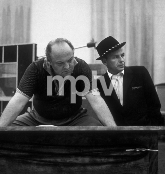 Frank Sinatra and arranger Billy May at a Capitol Records recording session circa 1959© 1978 Sid Avery - Image 0337_2179