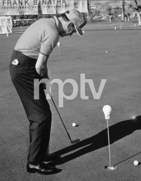 Frank Sinatra at the Canyon Country Club in Palm Springs for The Frank Sinatra Invitational Golf Tournament1963Photo by Lester Nehamkin** G.L. - Image 0337_2193