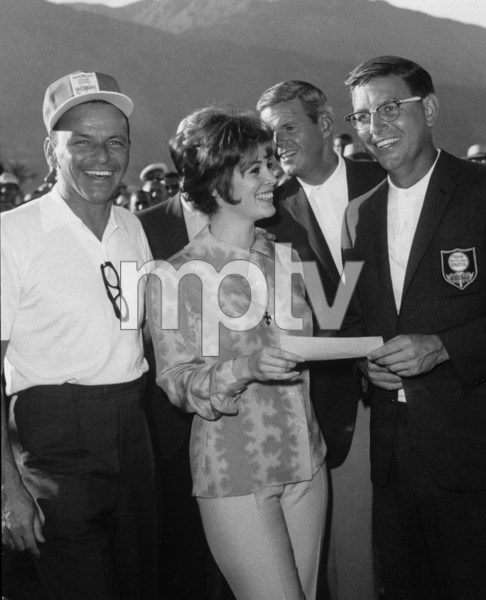 Frank Sinatra, Jill St. John and Frank Beard at the Canyon Country Club in Palm Springs for The Frank Sinatra Invitational Golf Tournament1963Photo by Lester Nehamkin** G.L. - Image 0337_2194