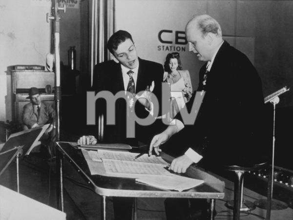 Frank Sinatra with Axel StordahlCBS radio rehearsal, c. 1943 - Image 0337_2276