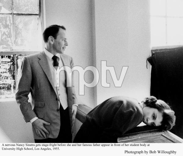 Frank Sinatra & Nancy Sinatra at her high school.1955 © 1978 Bob Willoughby - Image 0337_2360