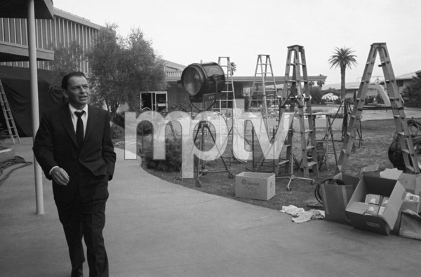 "Frank Sinatra at the Sands Hotel in Las Vegas during the making of ""Ocean"