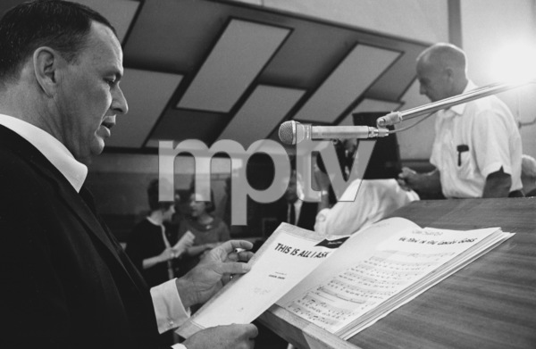 """Frank Sinatra""""September of My Years"""" Recording SessionApril (4) 1965 © 1978 Ed Thrasher - Image 0337_2381"""