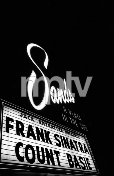 Marquee advertising Frank Sinatra and Count Basie