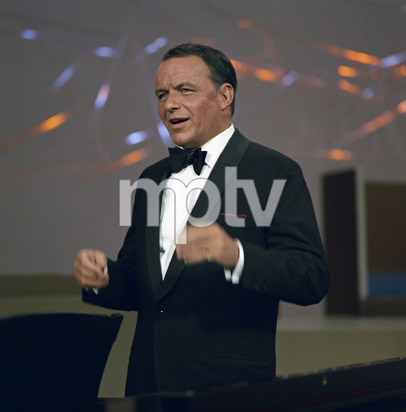 """Frank Sinatra performing for an NBC special entitled """"Frank Sinatra: A Man and His Music + Ella + Jobim"""" 1967 © 1978 Ed Thrasher - Image 0337_2417"""