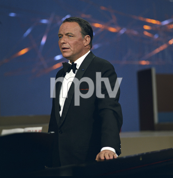 """Frank Sinatra performing for an NBC special entitled """"Frank Sinatra: A Man and His Music + Ella + Jobim"""" 1967 © 1978 Ed Thrasher - Image 0337_2418"""
