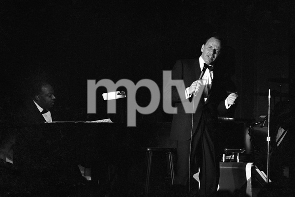 Frank Sinatra with Count Basie at the piano performing at The Sands Hotel in Las Vegas, Nevada1964 © 1978 Ted Allan - Image 0337_2421